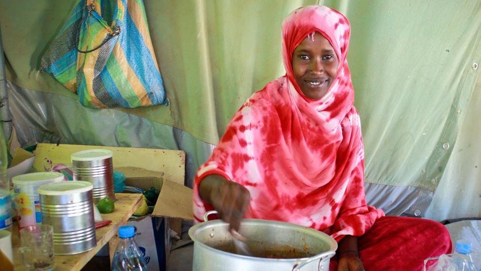 """""""Tunisia, Shousha camp. Somali refugee Lucia"""""""