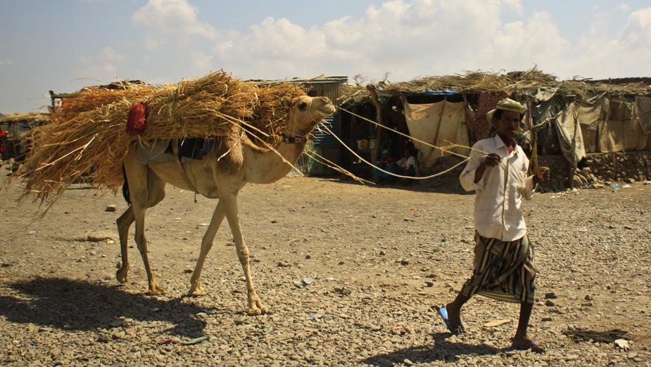 """Yemen, Kharaz camp. At the market"""